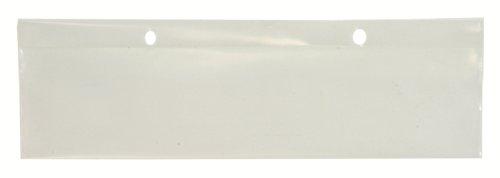 Quantum Storage Systems LBL2X8 Label Holder for Dividable Grid Container DG91035, DG92035, DG93030, Clear, 6-Pack