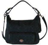 Coach Legacy Signature Courtenay Hobo Handbag 25372 Black Black