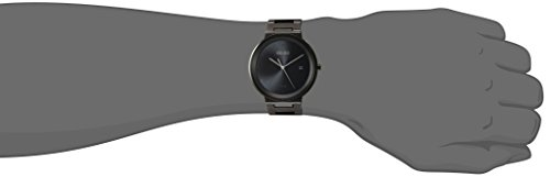Seiko Mens Dress Japanese-Quartz Watch with Stainless-Steel Strap, Black, 20 (Model: SNE481)