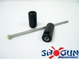 2002 - 2006 Honda RC51 Motorcycle Frame Sliders [Black]
