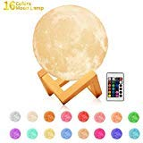 Cool Toys for 3-12 Year Old Boys, GZCY 16 Colors LED 3d Print Moon Lamp Night Light for Kids New fun...
