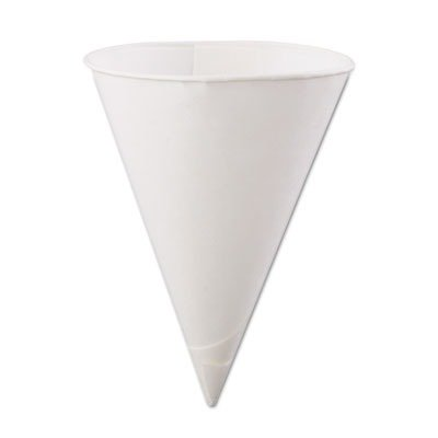 Konie Cups International Rolled-Rim Paper Cone Cups KCI60KBR