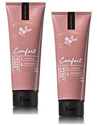 Bath and Body Works 2 Pack Aromatherapy Comfort Vanilla & Patchouli Body Cream 8 Oz.