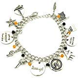 New Horizons Production Broadway Musical Hamilton Assorted Metal Charms Bracelet