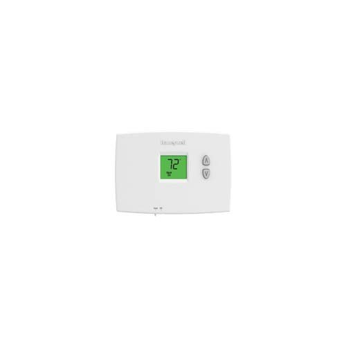 Honeywell TH1110DH1003 Horizontal PRO 1000 Non-Programmable Thermostat - Backlit, 1H/1C, Dual Powered