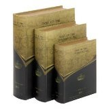 Tess of Urbervilles Leather Faux Book Boxes Set of 3 [Kitchen]