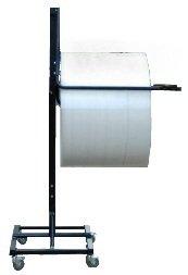 24'' Telescoping Single Arm Bubble Wrap® & Foam Roll Floor Unit Dispenser w/ Casters & Slide Cutter by FastPack Packaging