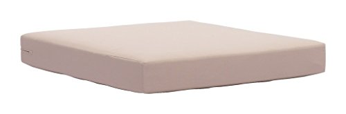 Outdoor Patio Seat Cushion, Beige, Fabric ()