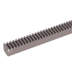 Gear rack made of steel C45KG module 1.5 tooth width 15mm height 15mm length 1000mm