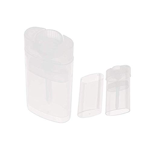 - Black Menba® Empty Oval Deodorant Lip Lipstick Balm Tubes Containers Plastic 20PCS 15ML Transparent (15ml, transparent)