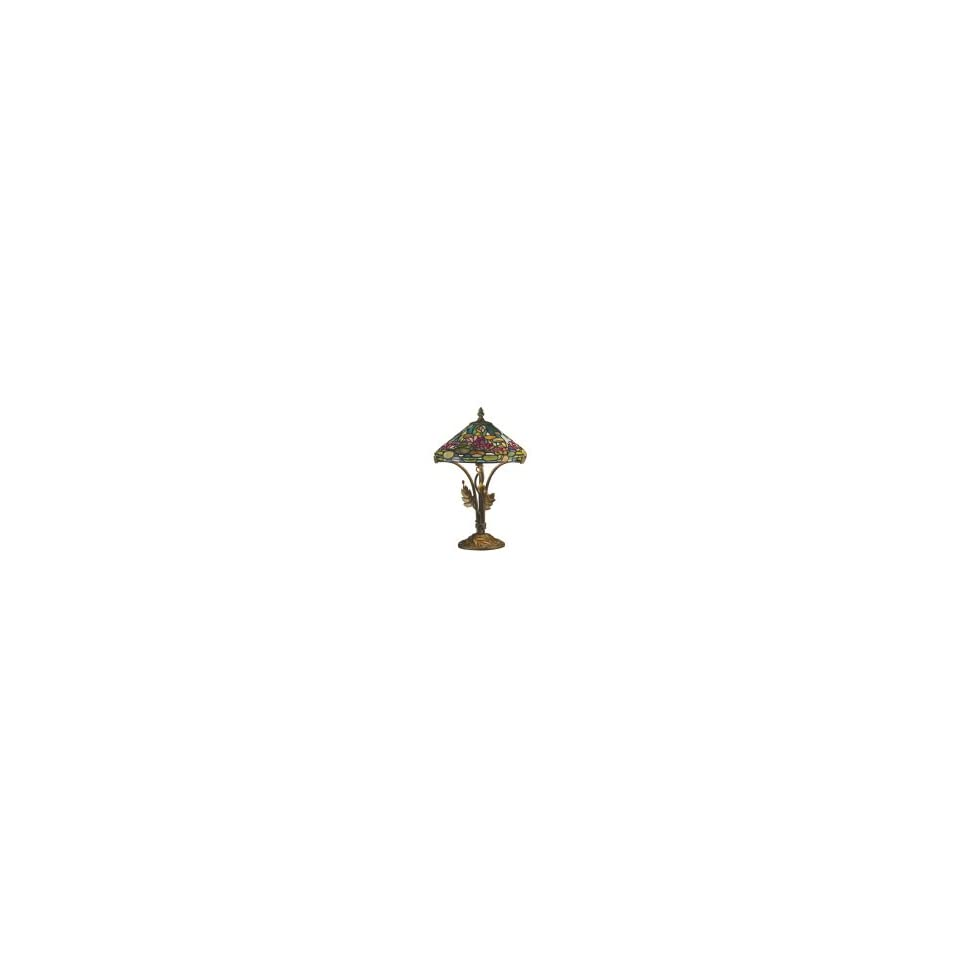 Dale Tiffany TT101216 Museum 2 Light Table Lamp in Antique Bronze