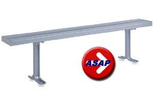 All Aluminum Locker Room Bench - 6' L x 9.5