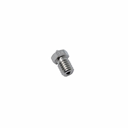 Iverntech Stainless Steel 0.2mm 0.3mm 0.4mm 0.5mm 0.6mm 0.8mm 1.0mm 3D Printer Nozzle for Makerbot V5 V6 Hotend Pack of 11Pcs AW018