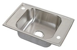 Bowl Sink Single Elkay Classroom (Elkay CDKAD2517 Celebrity Double Ledge Classroom Sink, Single Bowl, ADA Compliant, Sink Only)