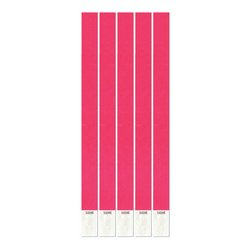 Tyvek Wristbands (neon pink) (100/Pkg) ()