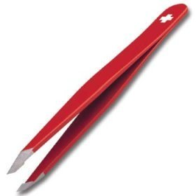 Rubis Swiss Cross Stainless Steel Slant Tweezer by Rubis