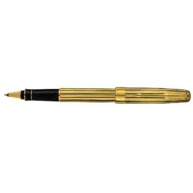 Parker Sonnet Gold Plated With Black Stripes Rollerball Pen