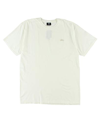 Stussy Men T-shirt - Stussy Stock Pig Dyed Tee Men's Natural (Medium) Off White