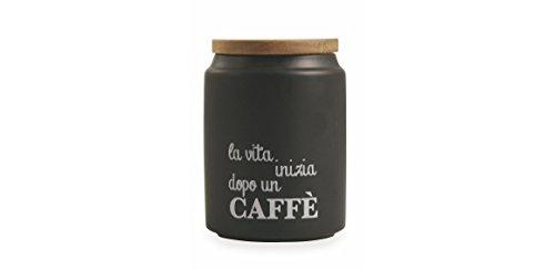 Villa d'Este Home Tivoli Idee Barattolo caffè, Gres, Nero Galileo 2413244