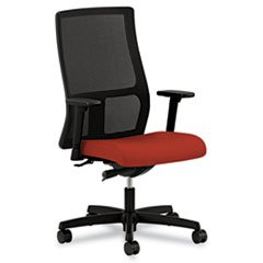 - HON Ignition Series Mid-Back Work Chair - Mesh Computer Chair for Office Desk, Poppy (HIWM2)