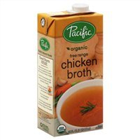 Pacific Organic Broth, Chicken, Free Range, 32 Oz. (Pack of 6) by Pacific Natural Foods