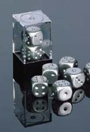 Aluminum Plated 16mm 6 Sided Dice 2 ea in - Metal Dice Chessex