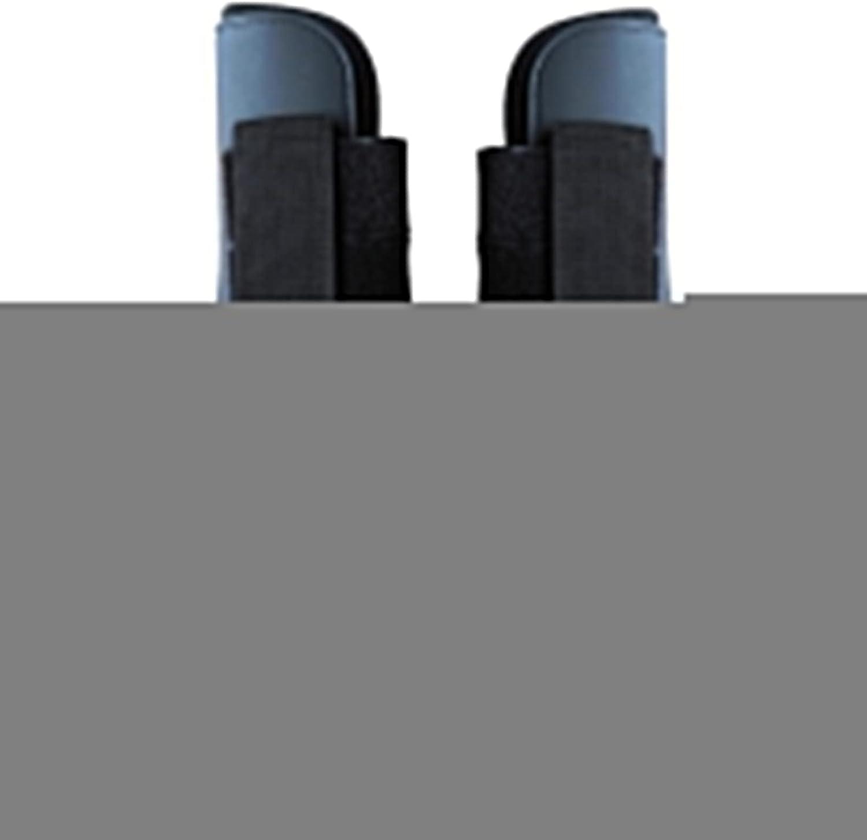 ARbuliry Botas de Pata Delantera y Trasera, 4 en 1 Botas de Caballo Ajustables para el Entrenamiento de Salto y la competición Botas de Elasticidad antichoque (Negro M)