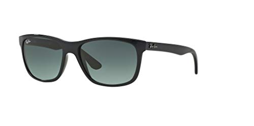 (Ray-Ban RB4181 601/71 57M Shiny Black/Grey Gradient Dark Grey Sunglasses For Men For)