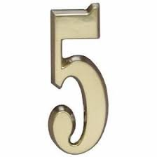 Satin Brass Design-it Number