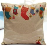 Velvet Pillow Crewel (Natural Covering Christmas Socks Cover Cases - Christmas Socks Throw Pillow Home Sofa Square Cover - Xmas Windsock Rest Underwrite Cut Through Day Whop Blanket Across Wrap - 1PCs)