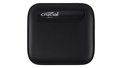 Crucial CT500X6SSD9 X6 500GB draagbare SSD – tot 540 MB/s – USB 3.2 – externe Solid State Drive, USB-C