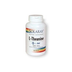 Solaray - L-Theanine, 100 mg, 30 (Gumlet Gum)