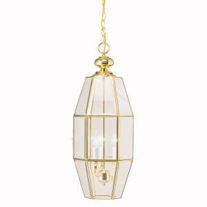 (Kichler Lighting 2570PB 3 Light Crystal Palace Foyer Light, Polished Brass)
