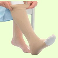 Jobst 114482 UlcerCare Non-Zippered Unisex Open Toe Knee Highs - Size- X-Large with 2 Liners and 1 stocking, Color- Beige