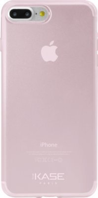 Coque ultra slim en silicone invisible pour Apple iPhone 7 Plus 0,6mm, Transparent Rose