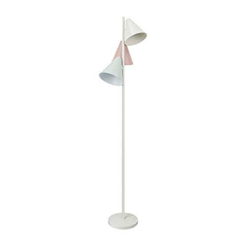 Modern Designer Style 3 Way Brushed Chrome Floor Lamp - 1532632cm Complete with 5w LED E14 Bulbs [3000K Warm White]