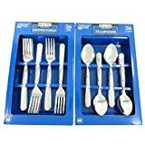 (Daily Chef Dinner Forks and Tea Spoons Flatware - 72 Pieces Windsor)