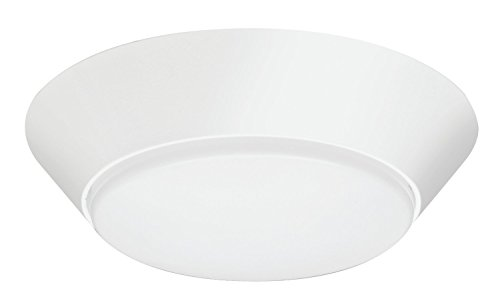 (Lithonia Lighting 13 inch Round LED Flush Mount Thin Ceiling Light Mount, White, 3000K, Dimmable, Wet Listed)