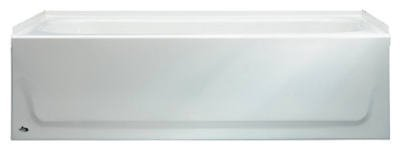 BOOTZ INDUSTRIES GIDDS-110006 Steel Bathtub With Left-Hand Drain, White, 30 x 60 x 14 1/4''