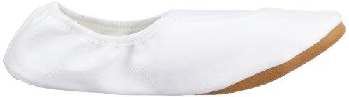 Beck Basic weiss, schwarz 025 - Zapatillas de gimnasia de tela unisex Blanco