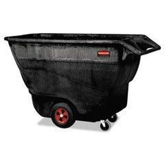 ** Structural Foam Tilt Truck, Rectangular, 1250 lb. Cap., Black (1,250 Lb Cap)