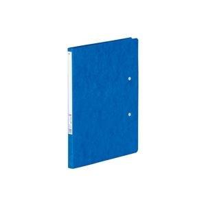 生活日用品 (業務用100セット) パンチレスファイル/Z式ファイル 【B5/B42つ折り】 タテ型 F302 藍 B074JZQ953