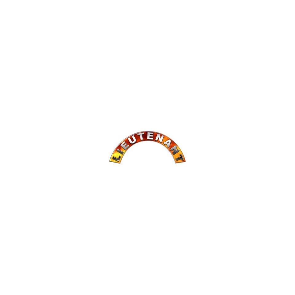 com Lieutenant Real Fire Firefighter Fire Helmet Arcs / Rocker Decals
