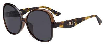 Dior DIOR NUANCE F BROWN HAVANA/GREY 60/16/145 women Sunglasses (Dior Sonnenbrille Silber)