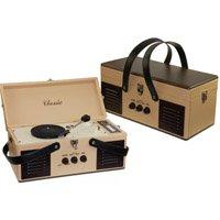 Tocadiscos maletín retro grabador a MP3 beige ER8281: Amazon ...