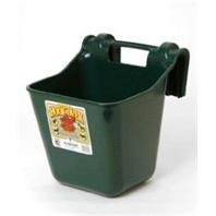 Miller Manufacturing HF12GREEN Hook Over Feeder for Dogs and Horses, 12-Quart, Green