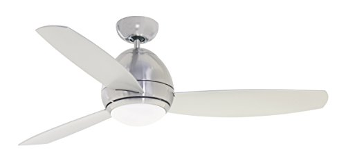 Emerson CF253LBS Curva 52-inch Modern Ceiling Fan, 3-Blade Ceiling Fan with LED Lighting and 6-Speed Remote Control by Emerson