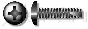 (15000PC) 1/4'-20 X 1', Thread-Cutting Screws , Type '23' , Pan Phillips Drive , Full Thread , Steel, Black Oxide Ships FREE in USA by Aspen Fasteners