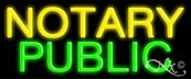 Notary Public Economic Neon Sign - 10 x 24 x 3 inches - Made in USA
