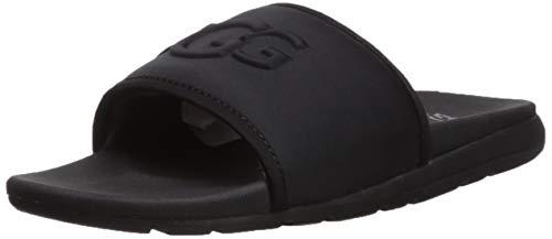 UGG Men's Xavier Graphic Slide Sandal, black, 11 Medium US (Sandals Mens Ugg)